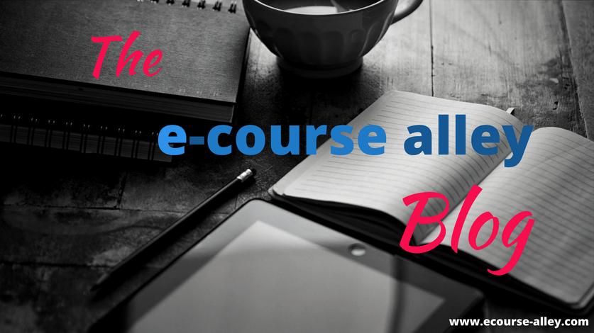 The e-course alley blog