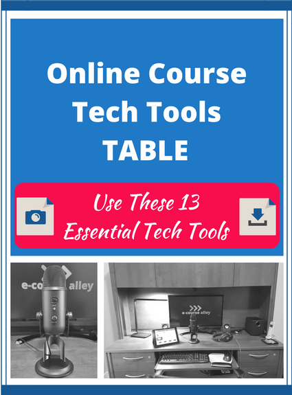 Online Course Tech Tools Table