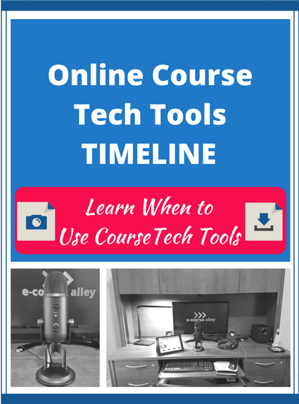 Online Course Tech Tools Timeline