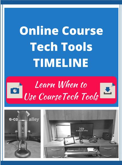 Online Course Tech Tools Timeline