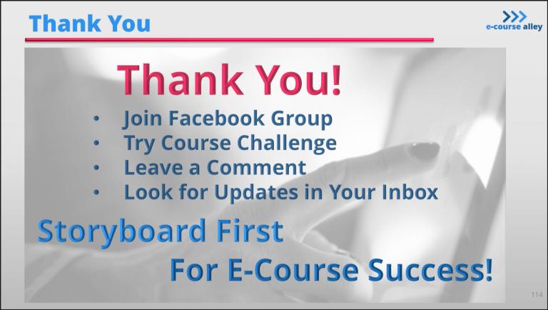 SB Course - Thank You Screen