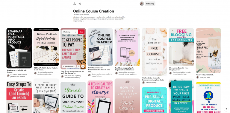 Online Course Creation Pinterest Board by ExtraBold